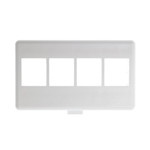 - Panduit NK4MFWH 4-Port Modular Furniture Faceplate, White