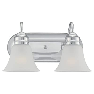 Sea Gull Lighting 44851-05 2 Light Gladstone Bathroom Bar Light - Satin Etched Glass shades Lamps not included Easily converts to LED with optional lamping - bathroom-lights, bathroom-fixtures-hardware, bathroom - 31Aa8wZ%2BPkL. SS400  -