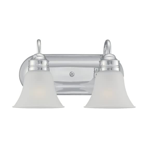 Sea Gull Lighting 44851-05 2 Light Gladstone Bathroom Bar Light - Satin Etched Glass shades Lamps not included Easily converts to LED with optional lamping - bathroom-lights, bathroom-fixtures-hardware, bathroom - 31Aa8wZ%2BPkL. SS570  -