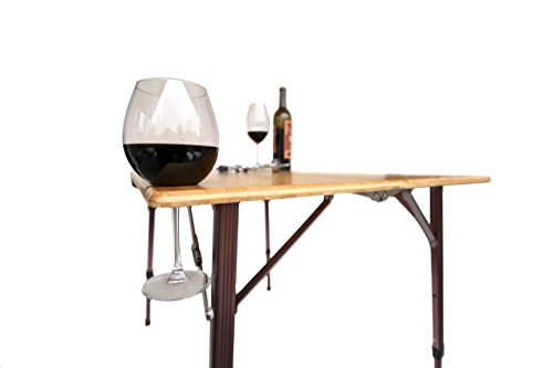 TravelChair Kanpai Bamboo Wine Table, Foldable for Easy Travel and Camping