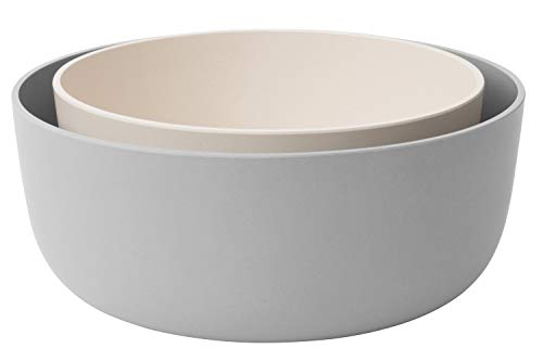 BergHOFF - Leo Collection - 2 Piece Crafted Serving Bowl Set - White and Gray