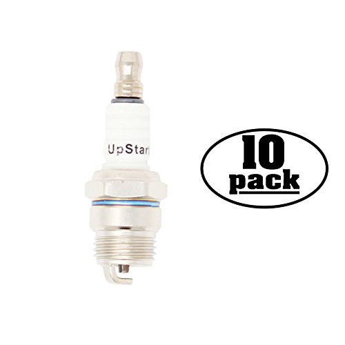 UpStart Components 10-Pack Compatible Spark Plug for HOMELITE Blower VacAttack II, Yard Broom II - Compatible Champion DJ7Y & NGK BPM7F Spark Plugs