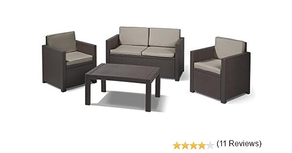 CURVER Jardin M283879 - Conjunto Ratan Resina Victoria Lounge Set Marron: Amazon.es: Jardín
