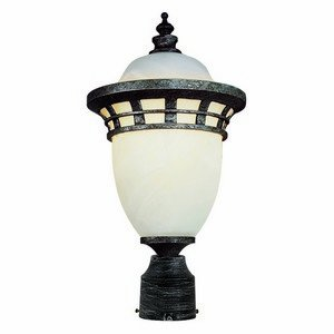 Trans Globe Lighting 5112 BZ Outdoor Stephano 16″ Postmount Lantern, Bronze