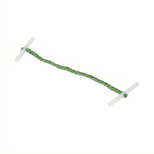 Whitecroft Essentials-101 mm, in plastica, punta-Fermafogli con estremità metalliche, colore: verde (Confezione da 100) 27121/10