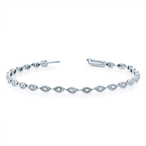 Diamond Bracelet 1/4ct TDW in 10k White Gold - 7 inch ()