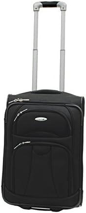 WestJet Navigator Lightweight Luggage Cabin Trolley 20 -BLACK