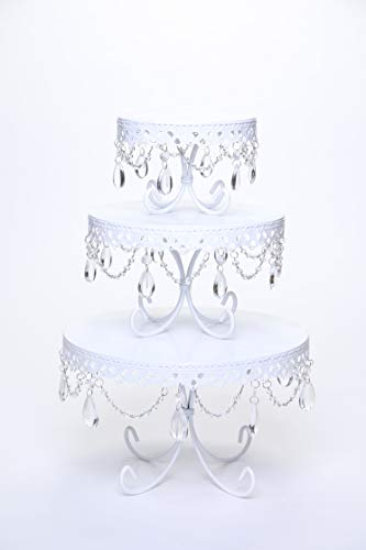 Opulent Treasures Chandelier Loopy Cake Plates Set of 3 | Wedding, Anniversary, Bridal Shower, Baby Shower Dessert Tables -