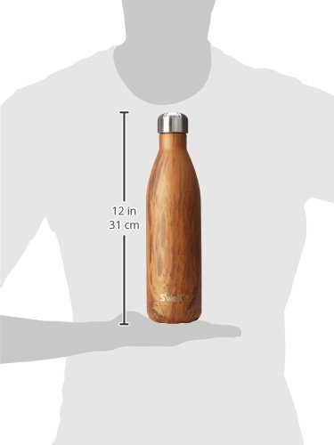 S'well Vacuum Insulated Stainless Steel Water Bottle, 25 oz, Teakwood by S'well (Image #7)