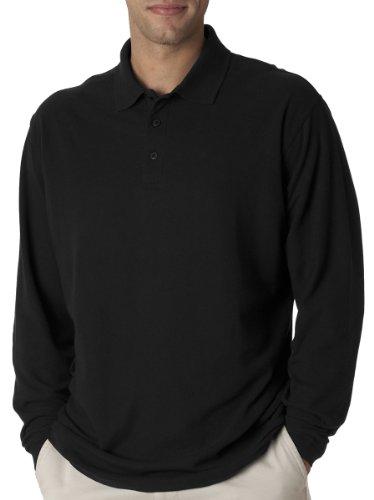Adult Fashion Polo (UltraClub Adult Long-Sleeve Whisper Pique Polo)