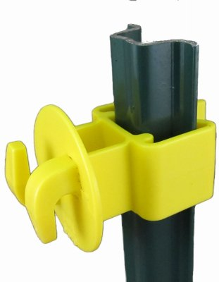 Dare Products SNUG-LGU-25 Electric Fence U-Post Insulator, Light Duty, Yellow, 25-Pk. - Quantity 10