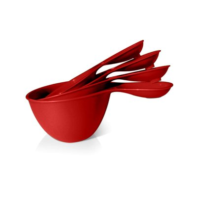 4 Piece Measuring Cup Set (Set of 4) Color: Red Tomato