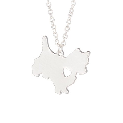 Silver Westie Necklace Dog Pendant Jewelry Breed Pet Jewelry Memorial Gift Hunters lovers