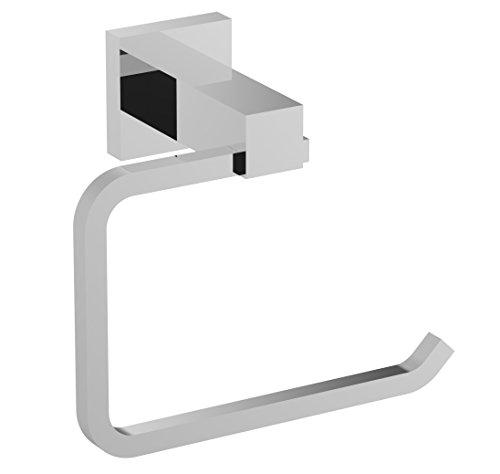 Eviva EVAC60CH Square Holdy Toilet Paper Or Towel Holder Bathroom Accessories Combination, Chrome by Eviva