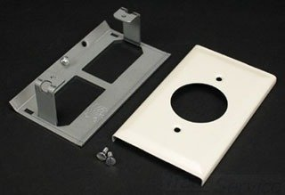 Recept Plate - Wiremold V3033Je Sgl Recept Plate - Package Qty 2