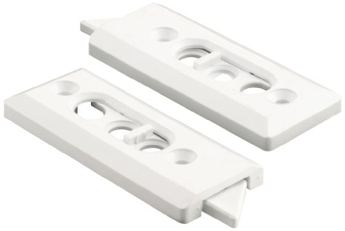 (Prime-Line F 2728 Tilt Latch Pair, White Plastic Construction, Spring Loaded, 2-1/8 in. Hole Centers)