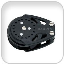 Harken 57mm 75mm Carbo Ratchamatic Blocks, 75mm carbo
