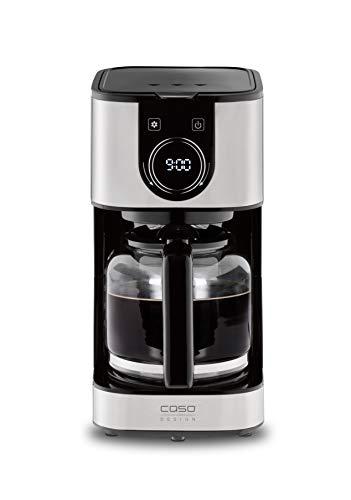 CASO Selection C12 – Cafetera de goteo con jarra térmica de 1,5 l, temporizador, acero inoxidable con filtro permanente…