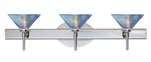 Besa Lighting 3SW-550493-CR Chrome Finish Bath Vanity with Dicro Swirl - Swirl Dicro