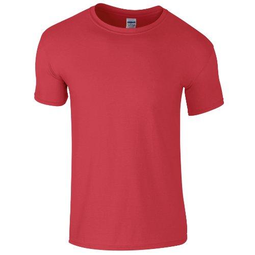 Rosso Gildan 100 Uomo Cotone Maglietta HqOwgHWB