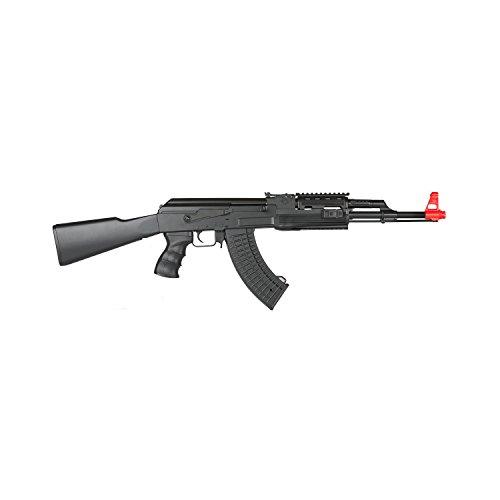 Lancer Tactical LT-16A AK-47 Airsoft Rifle AEG Metal Gear 415-FPS - Black (Best Ak 47 Airsoft Gun)