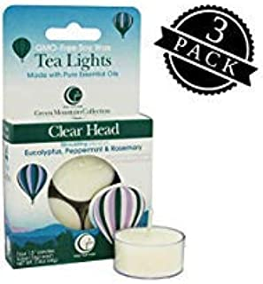 product image for Way Out Wax Aromatherapy Scented Candles, Clear Head Fragrance, (12 Tea Lights, 3 Packs of 4 Each); Hand Poured Soy Candles Scented w/Pure Essential Oils, All-Natural
