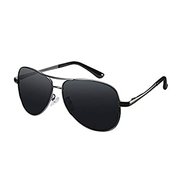 Simsco Polarized Protected Aviator Black Sunglasses with TAC Material For Men Latest and For Women Stylish Wayfarer Sunglasses पुरुषों के लिए धूप का चश्मा