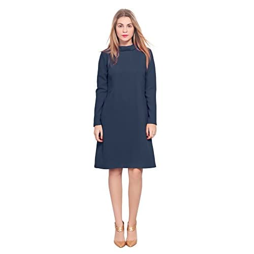 adcbcfa652e outlet Marycrafts Womens Classy Vintage 1960s High Neck Sleeve A Line Dress