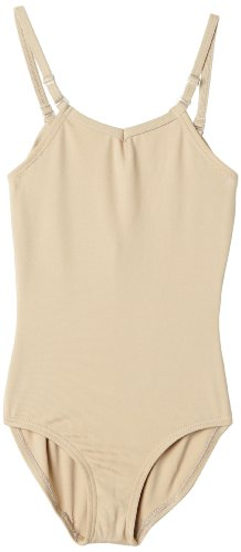 Capezio Little Girls' Camisole Leotard W/ Adjustable Straps,Nude,S (4-6)
