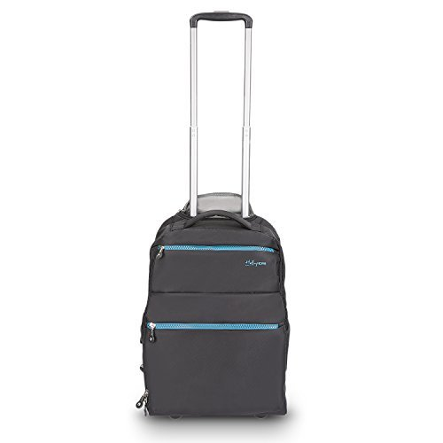Price comparison product image 20 inches Large Storage Multifunction Waterproof Travel Wheeled Rolling Laptop Backpack Luggage,  Black