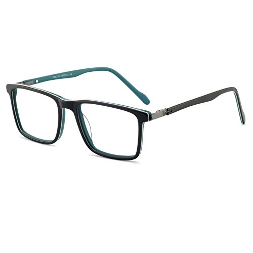 OCCI CHIARI Non-prescription Eyewear Frame Optical Rx Eyeglass Square Glasses Black/Blue ()