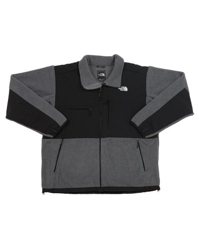 Mens North Face Denali Jacket - The North Face Men's Full Zip Denali Jacket, R Charcoal Grey/Heather, Large