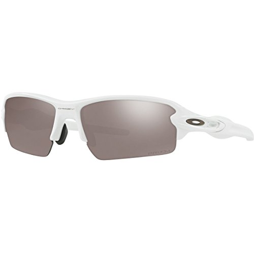 - Oakley Men's Flak 2.0 (a) Polarized Iridium Rectangular Sunglasses, Polished White, 61.0 mm