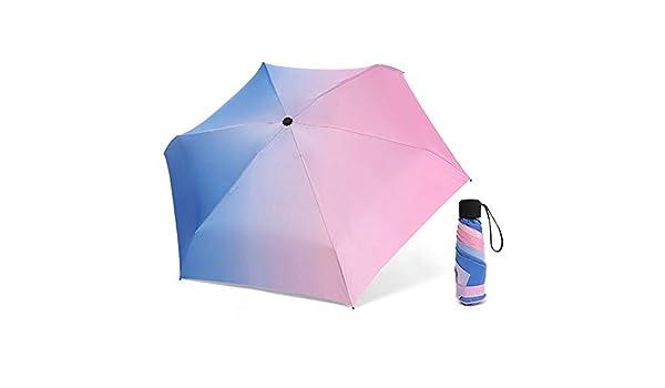 JUNDY Paraguas Compacto y Resistente al Viento, Paraguas Plegable, Conveniente para Viajes Sombrilla Plegable de plástico Negro Sombra de Paraguas Plegable color8 94cm: Amazon.es: Hogar