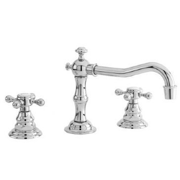 Newport Brass 930 Chesterfield Double Handle Widespread Lavatory Faucet with Met, Uncoated Polished Brass (Living) (Double Handle Brass 930)