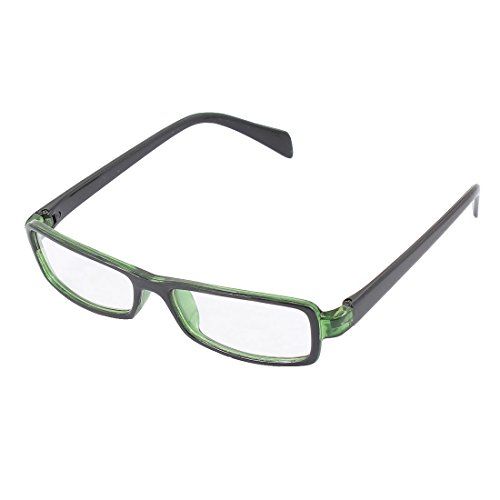 uxcell Plastic Full Rectangle Frame Lens Plain Eyeglasses Fashion Glasses Green - Black And Glasses Frames Green