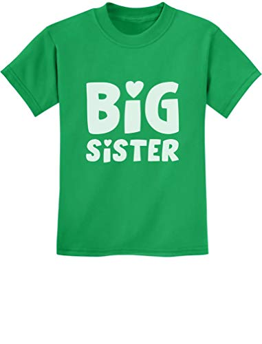 TeeStars - Big Sister - Sibling Gift Idea Elder Sister Cute Kids T-Shirt Small Green