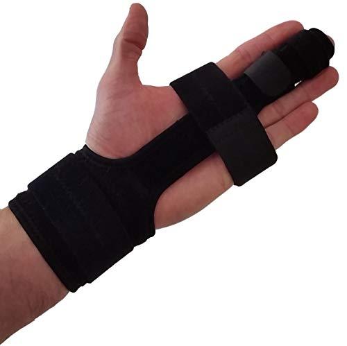 Trigger Finger Splint Finger Brace - Comfortable Finger Splints for Broken Fingers. Adjustable Aluminium Finger Straighter for Bent Mallet or Arthritic Finger Joints. Fits All Fingers (Small/Medium)