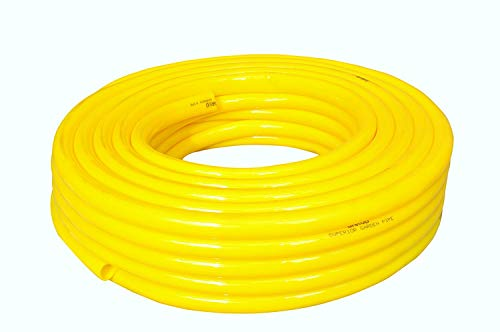 Garud Pipes Flexible Yellow Crackproof Garden Hose Water Pipe, 15 m  50 ft