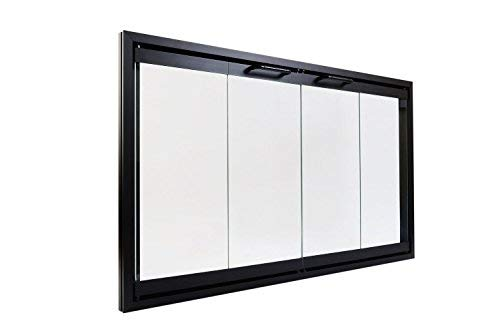 Fireplace Glass Doors for Majestic Prefab Fireplaces (Fits Opening 36