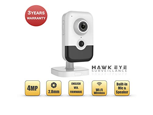 4MP Wireless Security IP Cube Camera - PoE WiFi IR Night Vision 4mm Lens Compatible with Hikvision DS-2CD2443G0-I WiFi Cube Camera