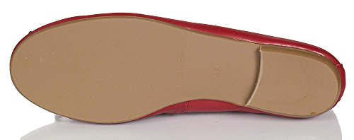 Fire Rouge pour JUNIC Jil Rot femme Ballerines Pq7zZg0