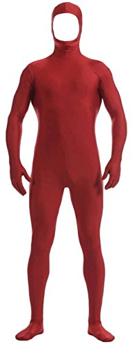 VSVO Wine Red Face Open Zentai Lycra Spandex Bodysuit (Small, Wine Red)