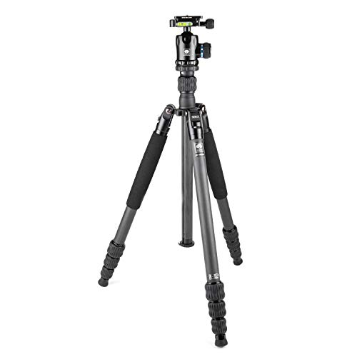 SIRUI AM-1204K Lightweight Carbon Fiber Tripod with Ball Head with Case – Convertible to Monopod