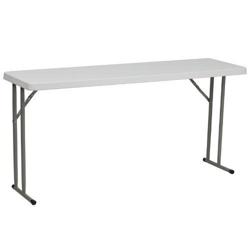 Flash Furniture Granite White Plastic Folding Training Table RB-1860-GG (4 ()