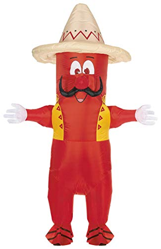 Inflatable Pepper Costume Body Suit Halloween Pepper Man Costumes Party for Mens & Womens Adult Size