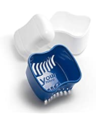 Invisalign-Retainer-Denture Bath-Dental Appliance Cleaning Case Size Standard with Easy Grip – Color Admiral Blue