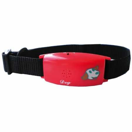 Pet Tag Classic No Bark Collar, Red, Small.
