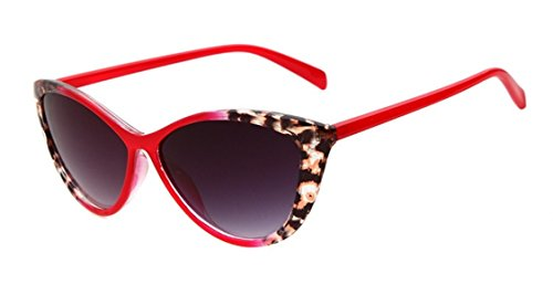 Women's K211 Full Frame Leopard Detail Side Cateye 52mm Sunglasses (C3-red, - Eye Leopard Sunglasses Cat