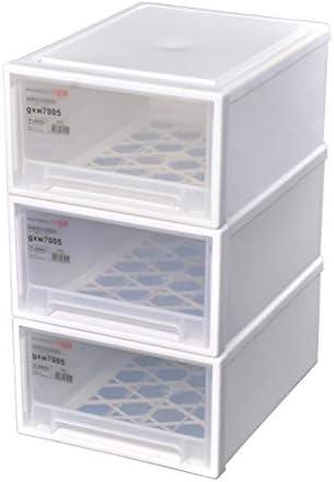 透明引き出しタイプのストレージボックスストレージボックスワードローブのベビー玩具収納ボックス重ね合わ仕上げキャビネット (Size : 3 layers - 41x32x55cm)